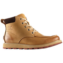 Buy Sorel Madison Moc Toe Waterproof Men's Boots, Buff Crouton Online at johnlewis.com