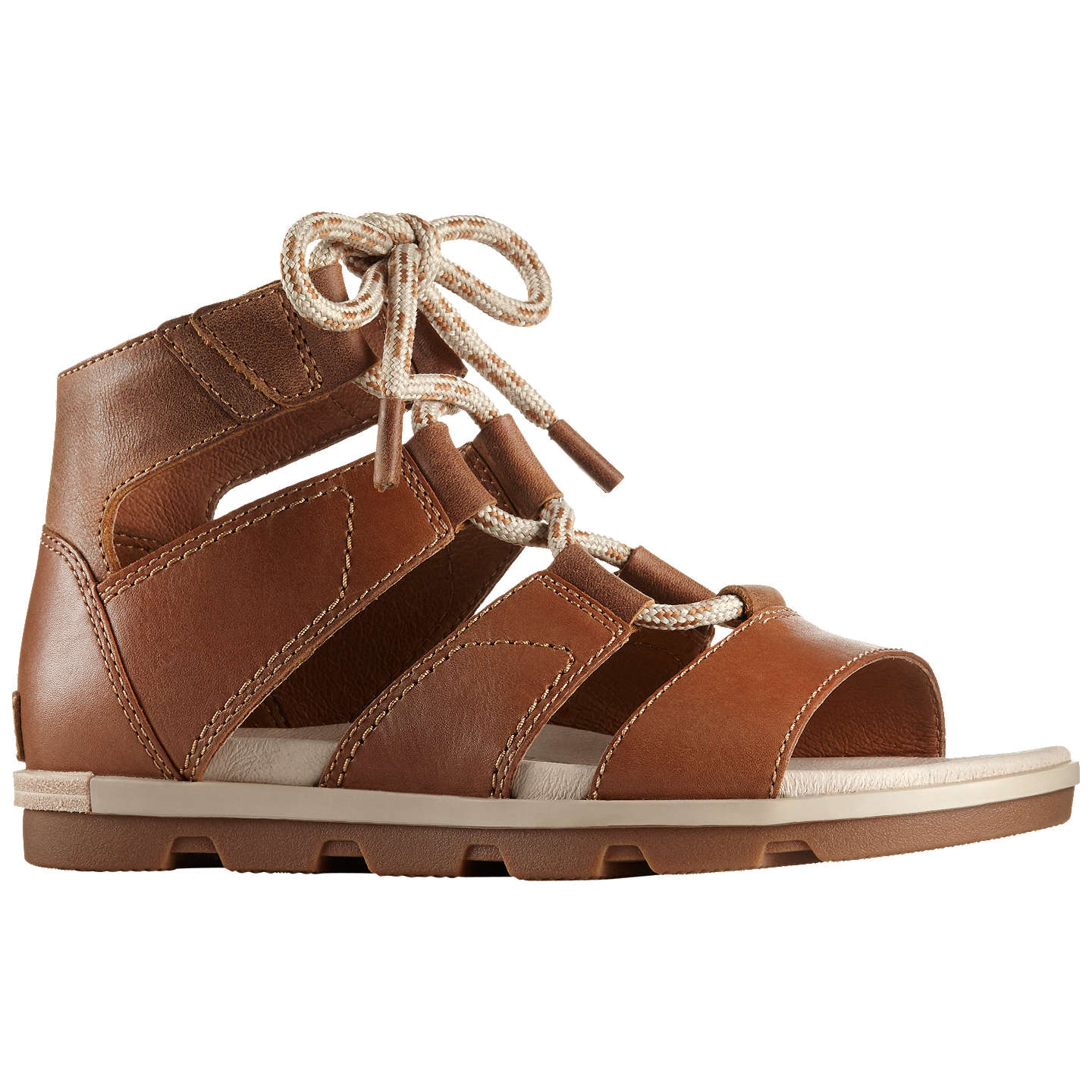 BuySorel Torpeda Leather Sandals, Camel, 4 Online at johnlewis.com ...