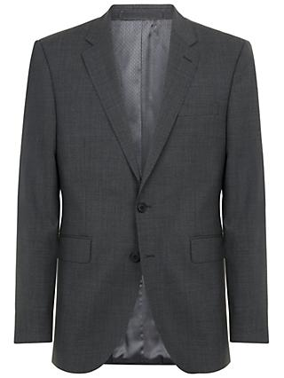 Jaeger Textured Wool Regular Fit Suit Jacket, Charcoal