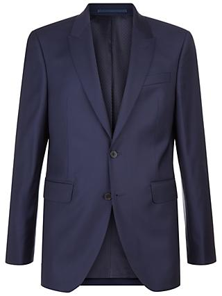 Jaeger Wool Twill Pinstripes Slim Fit Suit Jacket, Navy