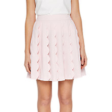 Buy Ted Baker Poppay Scallop Detail Mini Skirt, Baby Pink Online at johnlewis.com