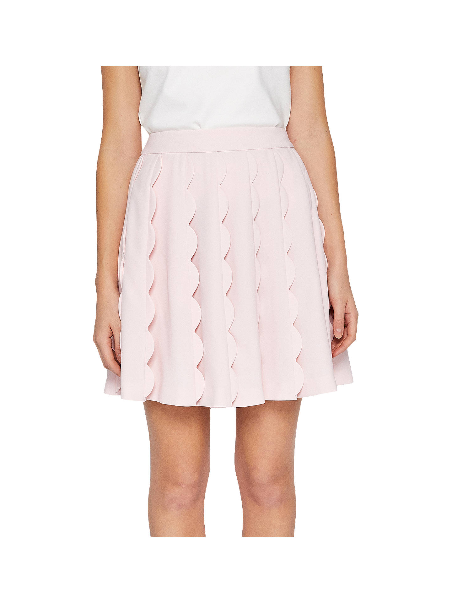 922c7ad7fe Buy Ted Baker Poppay Scallop Detail Mini Skirt, Baby Pink, 0 Online at  johnlewis ...