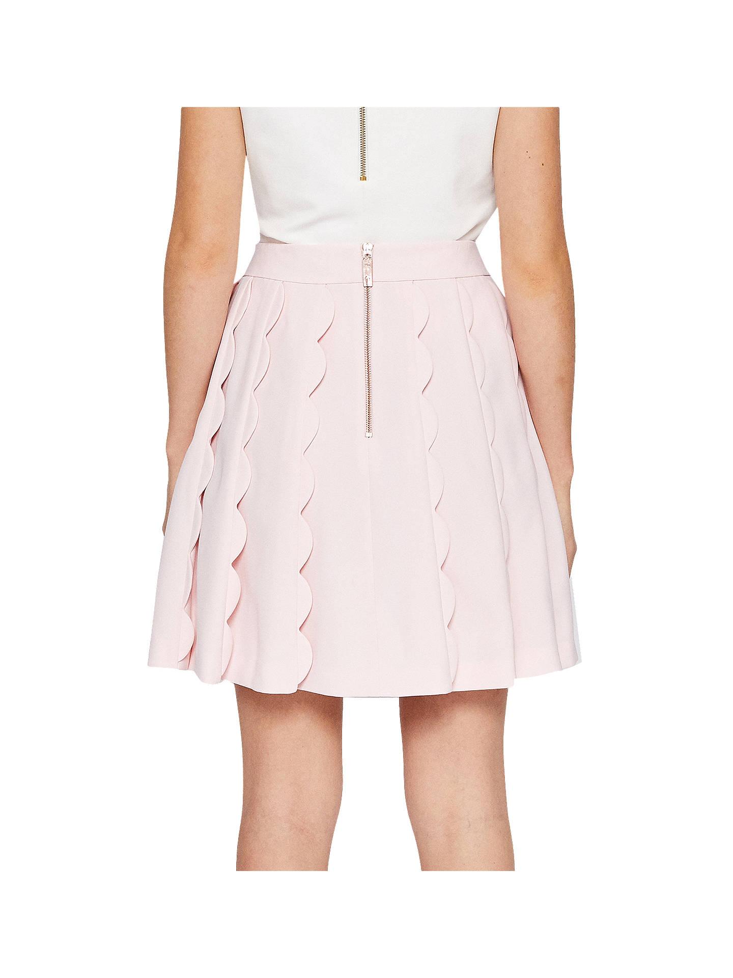 121e69b845 ... Buy Ted Baker Poppay Scallop Detail Mini Skirt, Baby Pink, 0 Online at  johnlewis ...