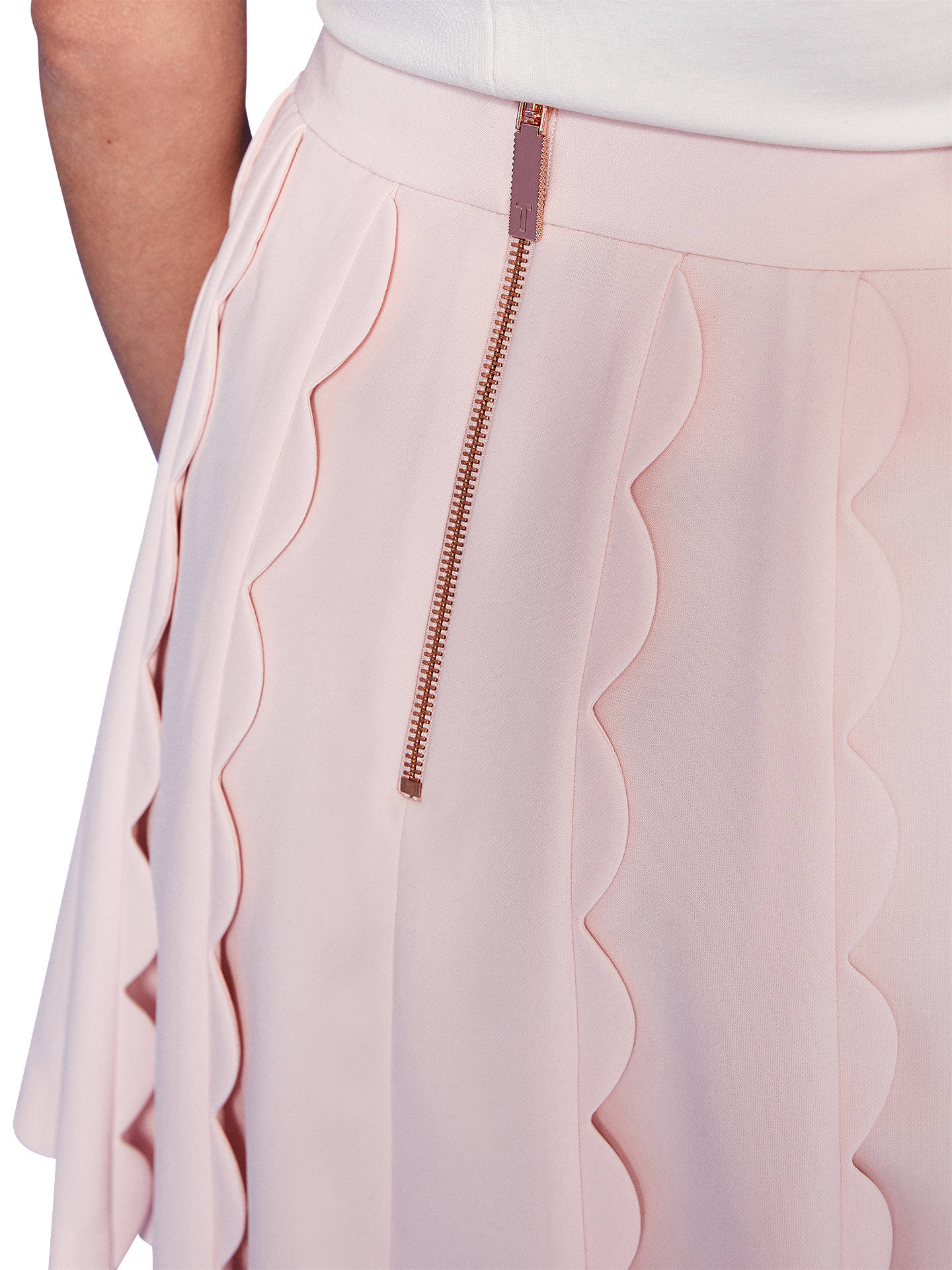 b4368442fc ... Buy Ted Baker Poppay Scallop Detail Mini Skirt, Baby Pink, 0 Online at  johnlewis