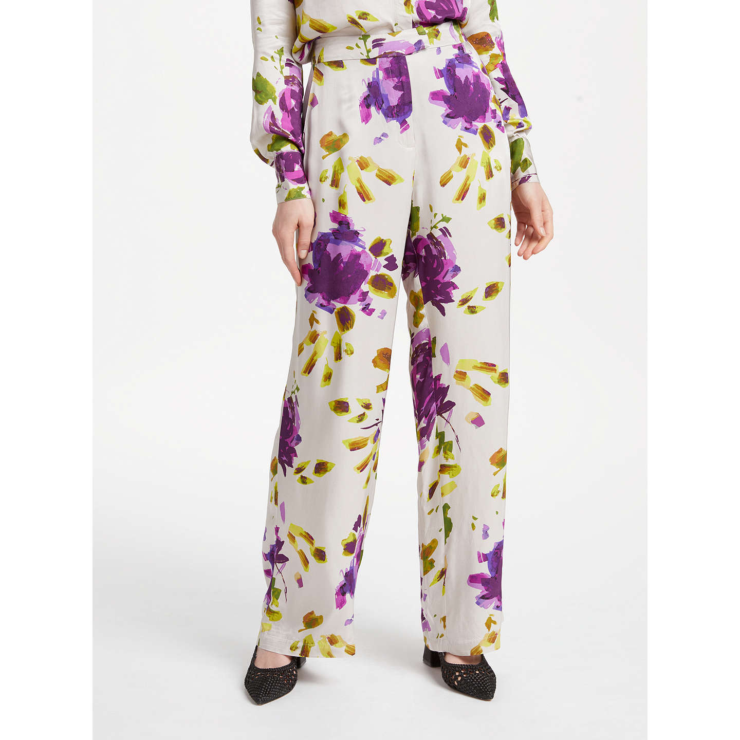 Release Dates Authentic Abelia Artist Flower Wide Leg Trousers Finery Cheap Price Factory Outlet nsMlQ3F