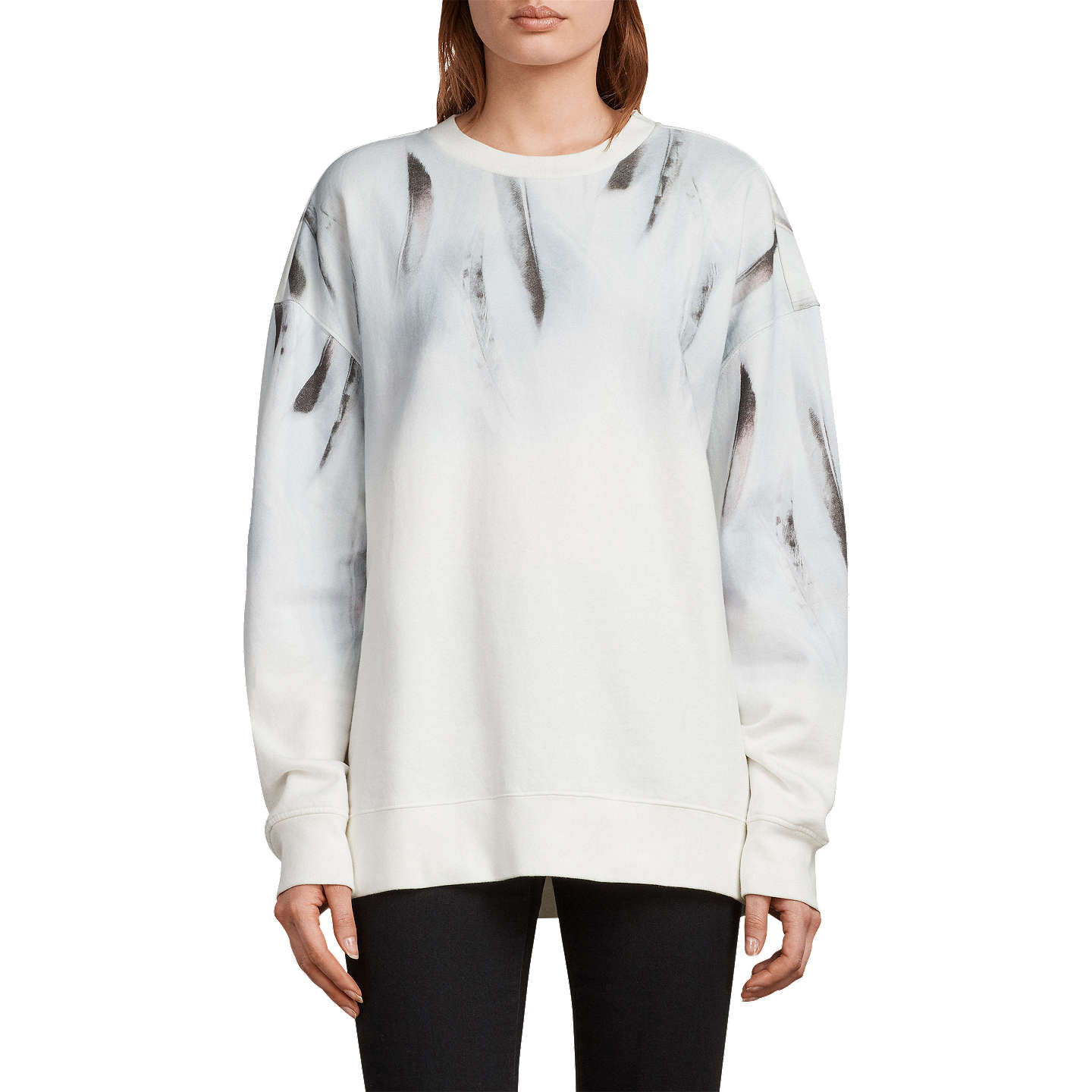 BuyAllSaints Plume Joy Sweater, Chalk White, XS Online at johnlewis.com