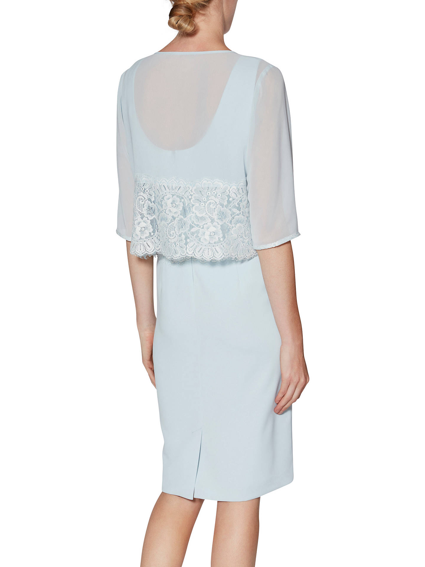 Buy Gina Bacconi Millie Dress And Chiffon Jacket , Blue Pearl, 12 Online at johnlewis.com