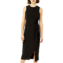 Buy Warehouse Tie Side Sleeveless Dress, Black Online at johnlewis.com