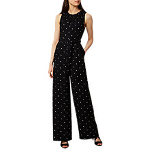 Buy Hobbs Mell Jumpsuit, Black/Multi Online at johnlewis.com
