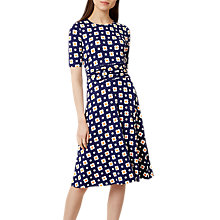 Buy Hobbs Bayview Dress, Blue/Multi Online at johnlewis.com