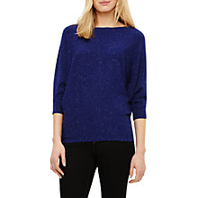 Buy Phase Eight Becca Sparkle Batwing Knit Jumper, Cobalt Blue Online at johnlewis.com