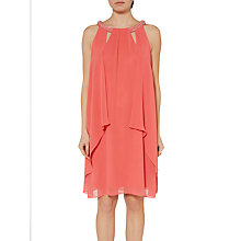 Buy Gina Bacconi Shelby Cut Out Neckline Chiffon Dress, Coral Online at johnlewis.com