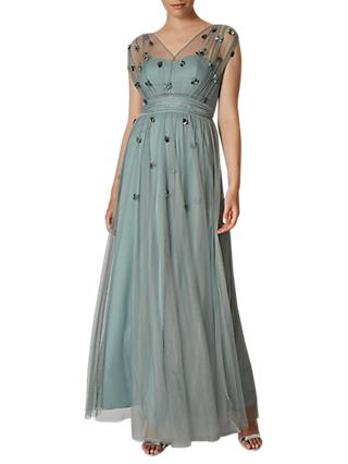 Phase Eight Collection 8 Yazmina Tulle Maxi Dress, Mint Green