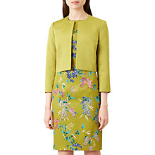 Buy Hobbs Mika Cropped Jacket, Chartreuse Online at johnlewis.com