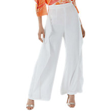 Buy Coast Romy Drape Trousers, Ivory Online at johnlewis.com