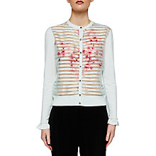 Buy Ted Baker Soft Blossom Burnout Cardigan, Mint Online at johnlewis.com