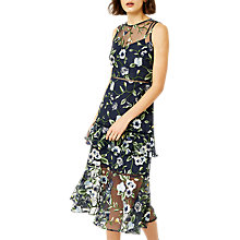 Buy Warehouse Anais Tiered Embroidered Dress, Multi Online at johnlewis.com