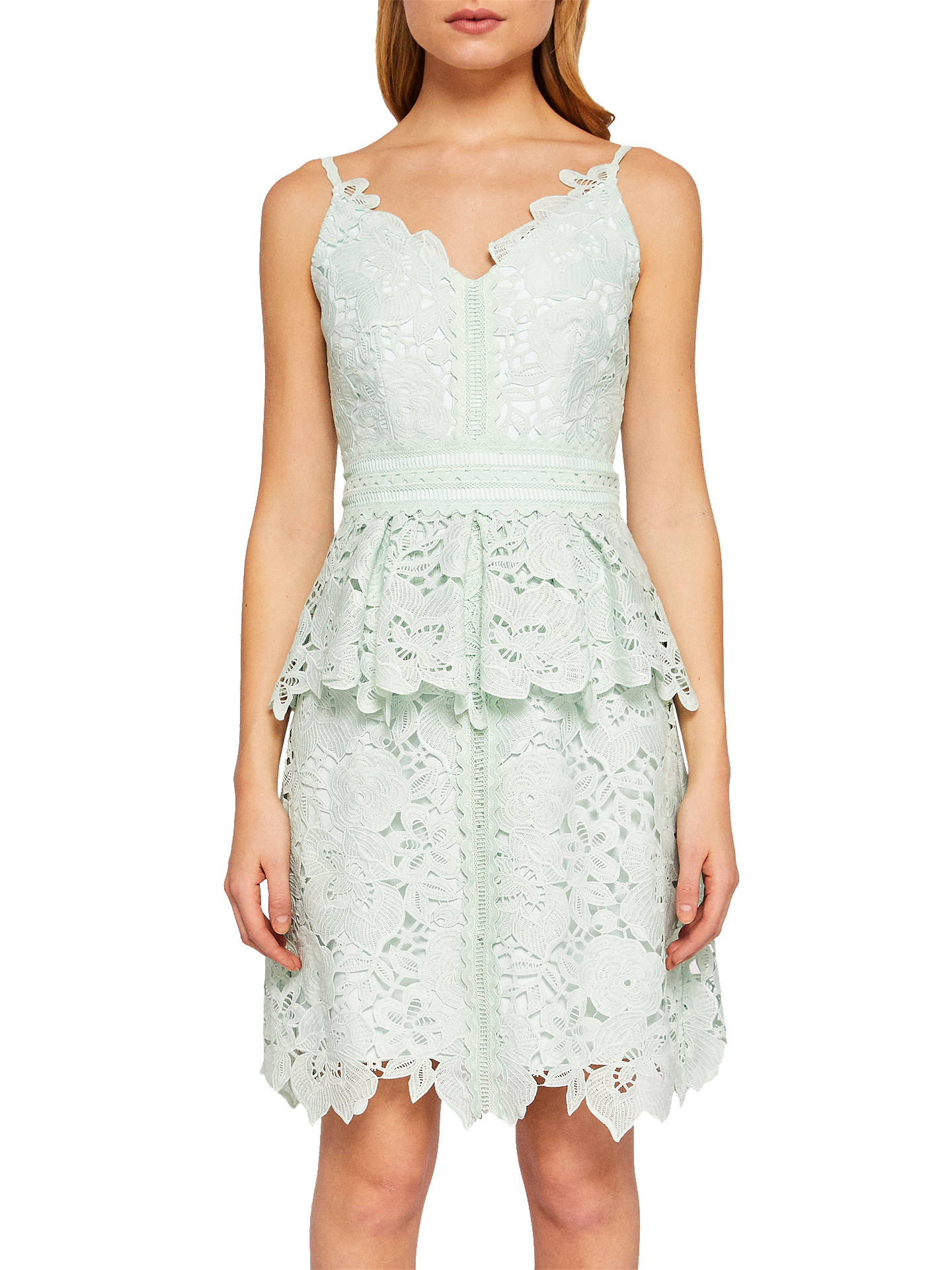 877f4786bead Ted Baker Nadiie Lace Peplum Dress at John Lewis   Partners