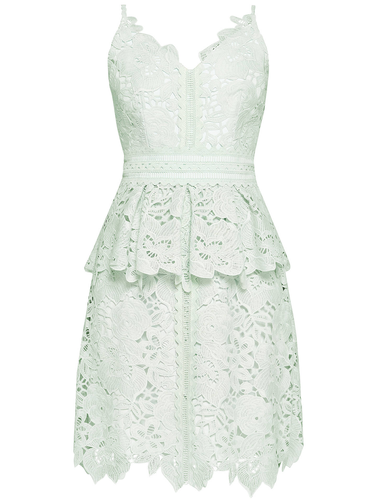 Buy Ted Baker Nadiie Lace Peplum Dress, Mint, 0 Online at johnlewis.com