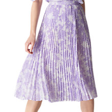Buy Whistles Batik Lily Pleated Skirt, Lilac Online at johnlewis.com
