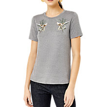 Buy Warehouse Barbican Songbird Embroidered T-Shirt Online at johnlewis.com