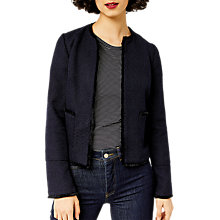Buy Warehouse Tweed Jacket, Navy Online at johnlewis.com