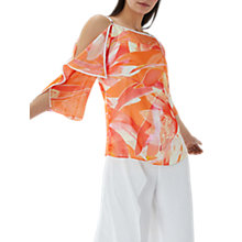 Buy Coast Jayda Printed Cold Shoulder Top, Multi Online at johnlewis.com