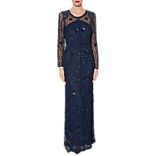 Buy Gina Bacconi Venus Beaded Maxi Dress, Navy Online at johnlewis.com