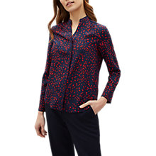 Buy Jaeger Ditsy Print Gather Shoulder Blouse, Navy/Ditsy Online at johnlewis.com