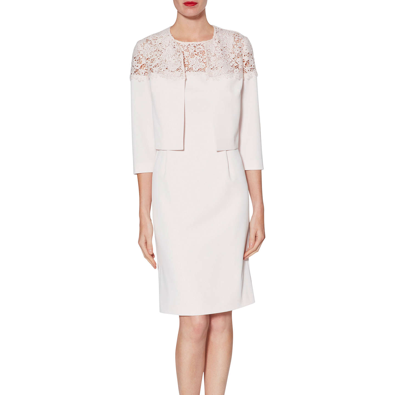 BuyGina Bacconi Doris Lace Dress And Jacket, Nude, 8 Online at  johnlewis.com ...