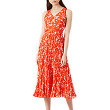 Buy Hobbs Lilah Dress, Orange/Multi Online at johnlewis.com