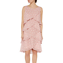 Buy Gina Bacconi Cindy Dot Tier Dress, Pink Online at johnlewis.com