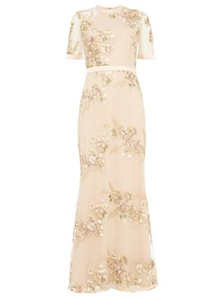 Phase Eight Yasmin Embroidered Dress, Rose Pink