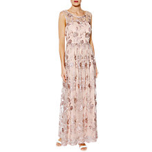 Buy Gina Bacconi Mandy Embroidered Maxi Dress, Pink Gold Online at johnlewis.com
