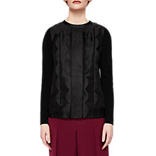Buy Ted Baker Woven Scallop Detail Jumper, Black Online at johnlewis.com