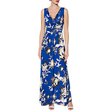 Buy Gina Bacconi Fifi Floral Maxi Dress, Royal Blue/Ivory Online at johnlewis.com