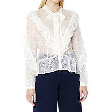 Buy Ghost Josephine Blouse, Ivory Online at johnlewis.com