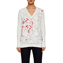 Buy Ted Baker Soft Blossom Burnout Jumper, Mint Online at johnlewis.com