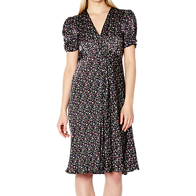Ghost Ditsy Sabrina Dress, Black/Multi
