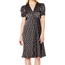 Buy Ghost Ditsy Sabrina Dress, Black/Multi Online at johnlewis.com
