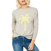 Buy Mint Velvet Palm Tree Jumper, Light Grey Online at johnlewis.com