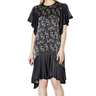 Ghost Floral Spot Karlie Dress, Black/Multi