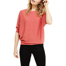 Buy Phase Eight Cotton Blend Becca Batwing Knit Jumper, Paprika Online at johnlewis.com