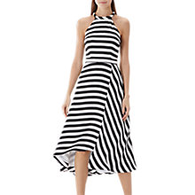 Buy Coast Dillon Stripe Midi Dress, Black/White Online at johnlewis.com