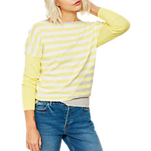 Buy Mint Velvet Colour Block Stripe Jumper, Multi Online at johnlewis.com