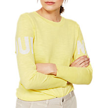 Buy Mint Velvet Oui Non Cotton Jumper, Yellow Online at johnlewis.com