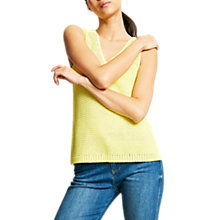 Buy Mint Velvet Tape Sleeveless Jumper, Yellow Online at johnlewis.com