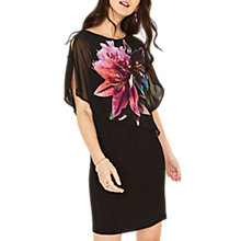 Buy Oasis Lily Overlay Dress, Multi/Black Online at johnlewis.com