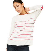 Buy Mint Velvet Stripe Star Jumper, Multi Online at johnlewis.com