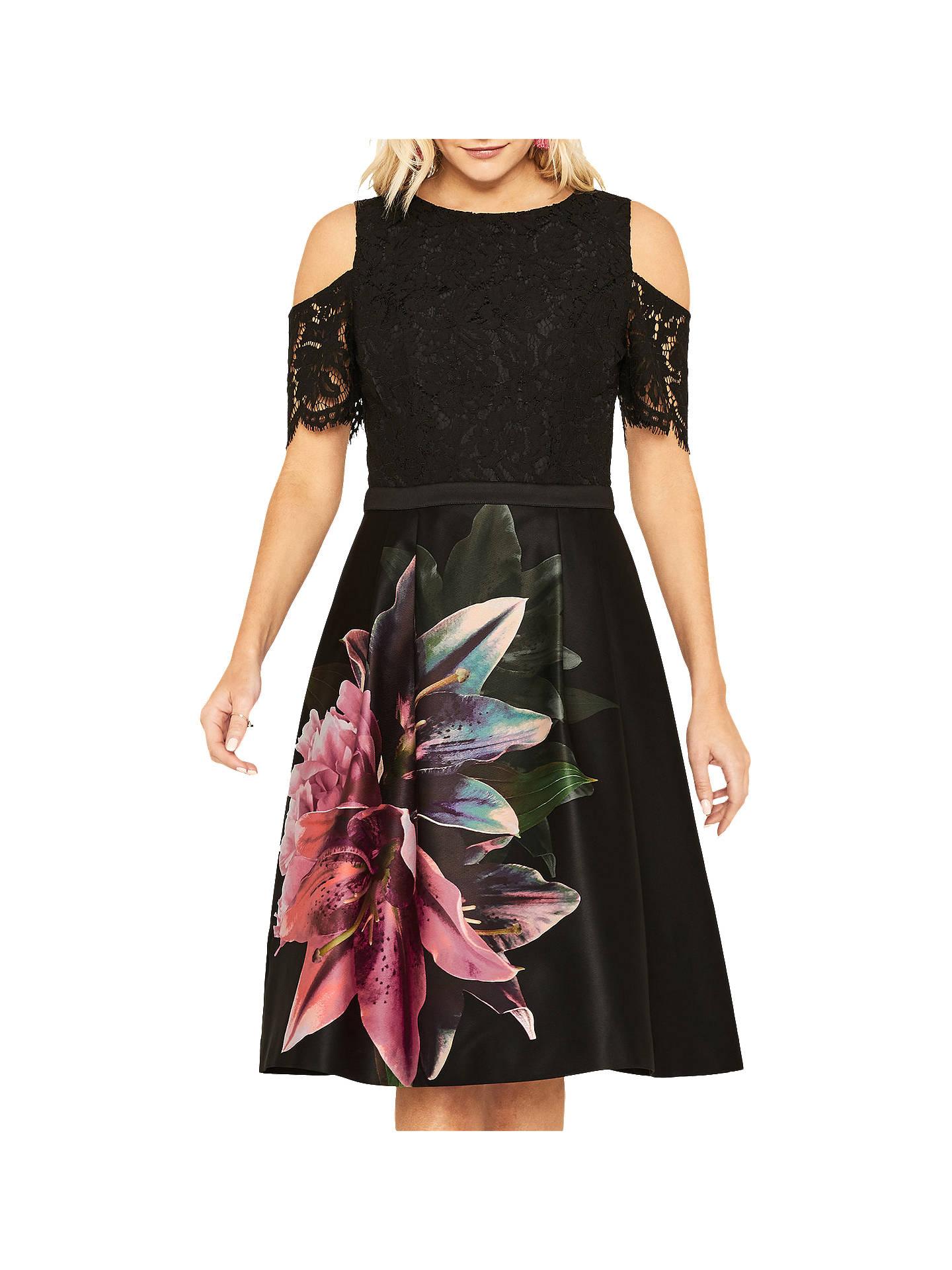 cf135ce7805b5 Buy Oasis Lily Cold Shoulder Skater Dress
